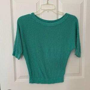 Express Dolman Knit Top in Turquoise